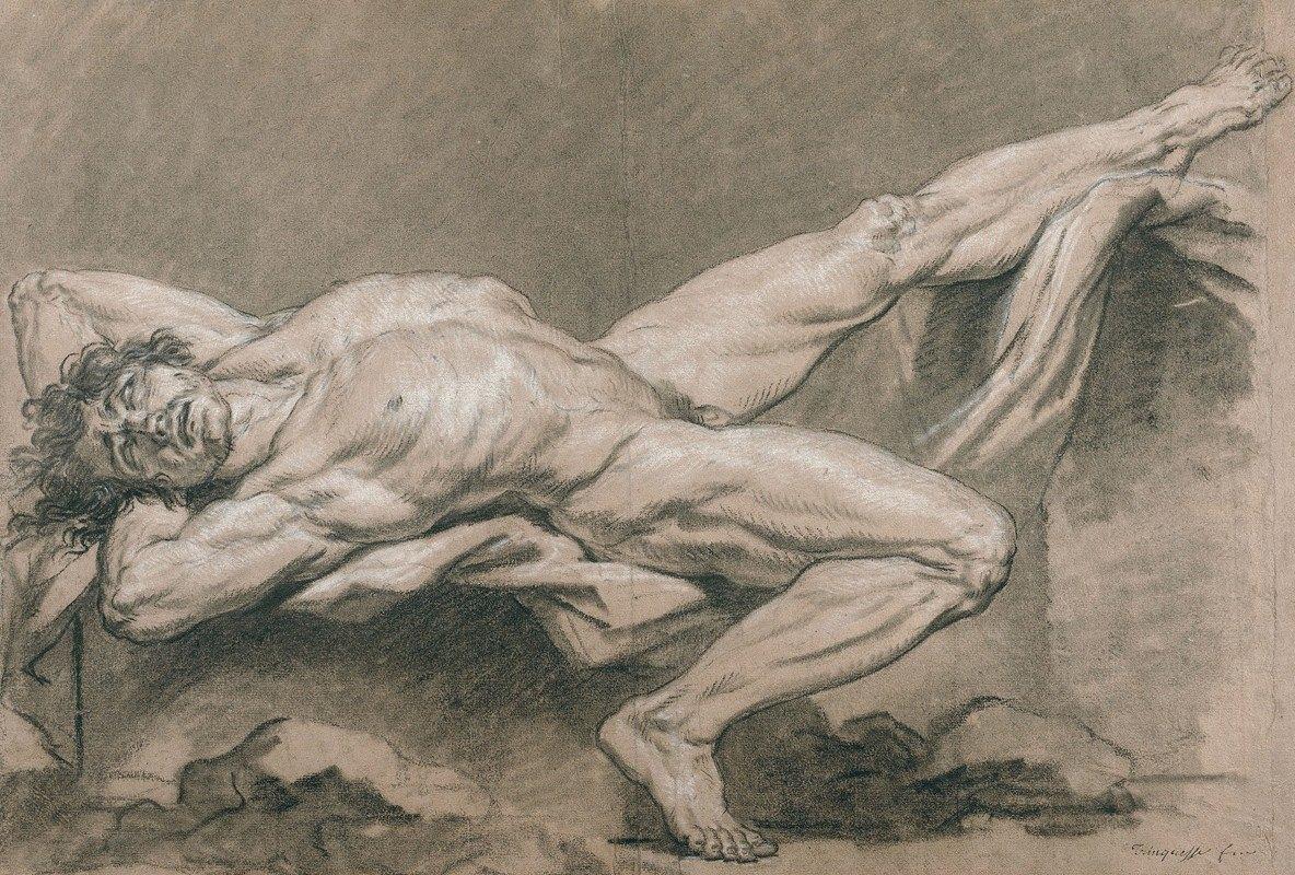 Louis Rolland Trinquesse - Académie d'homme nu allongé