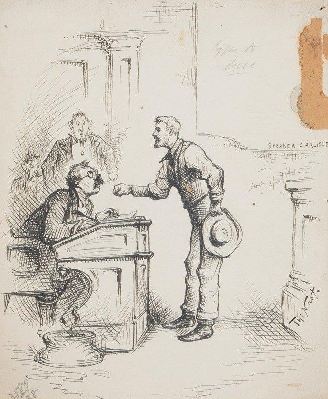 Thomas Nast - Speaker Carlisle