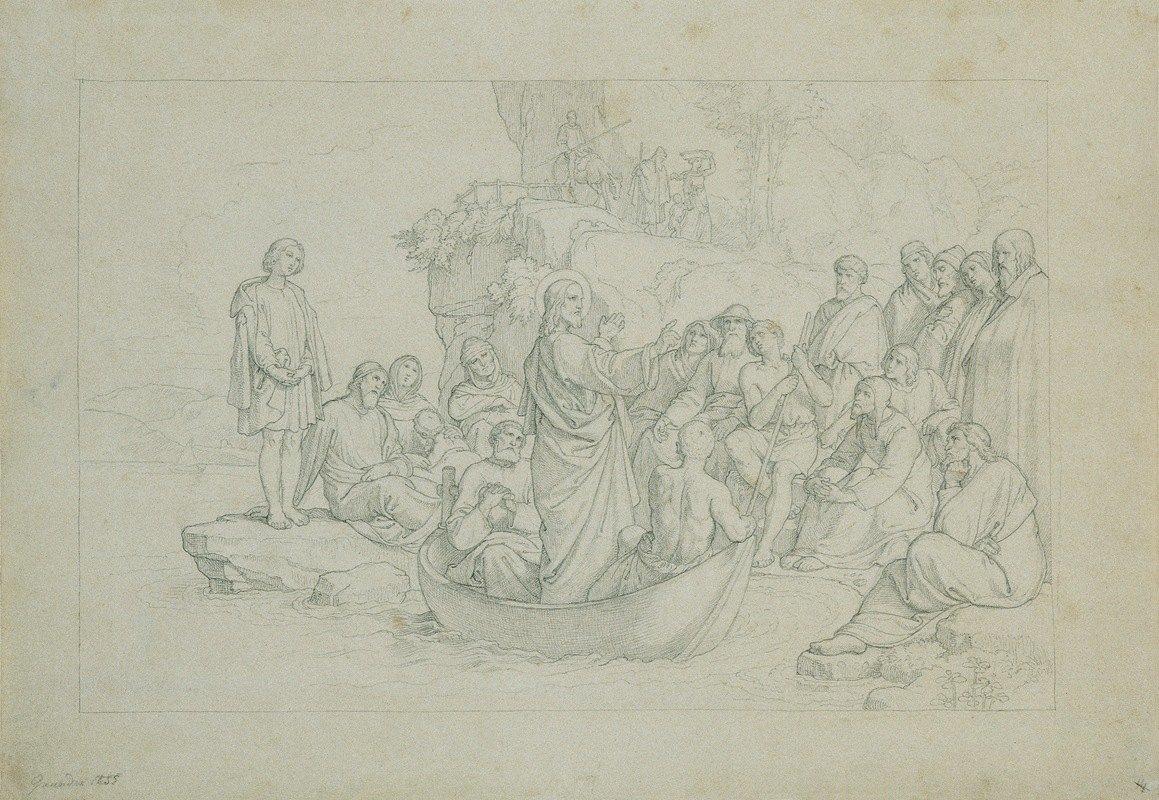 Joseph von Führich - Die Predigt vom Schiffe