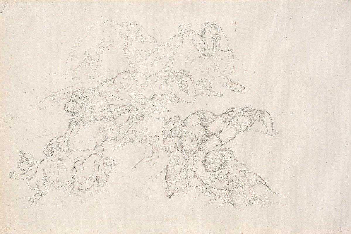 Joseph von Führich - Szene aus der Sintflut