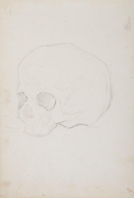 Ferdynand Bryll - szkic trupiej czaszki