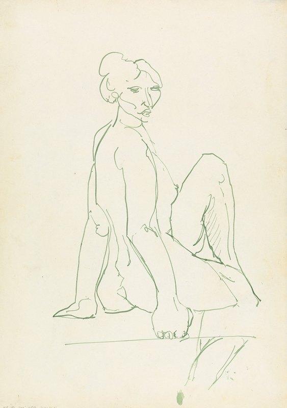 Henri Gaudier-Brzeska - Seated Female Figure 2