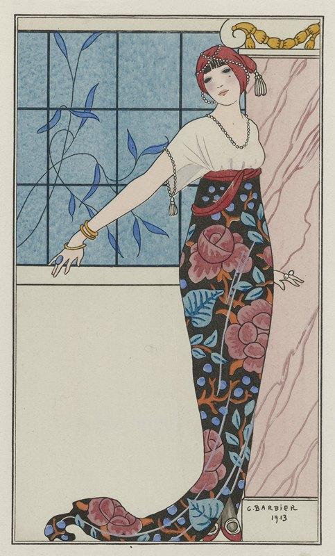 George Barbier - Grande robe du soir,