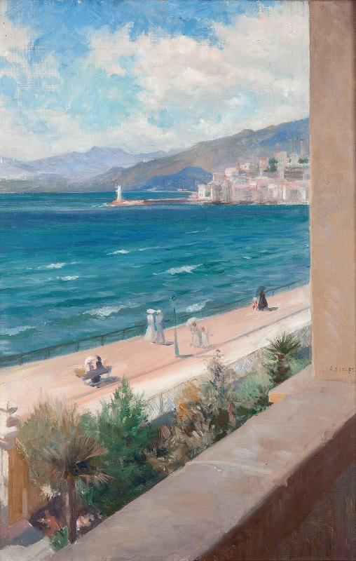 Albert Edelfelt - From my Window in Cannes