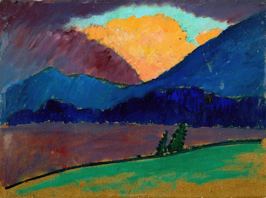 Alexej von Jawlensky - Summer evening in Murnau
