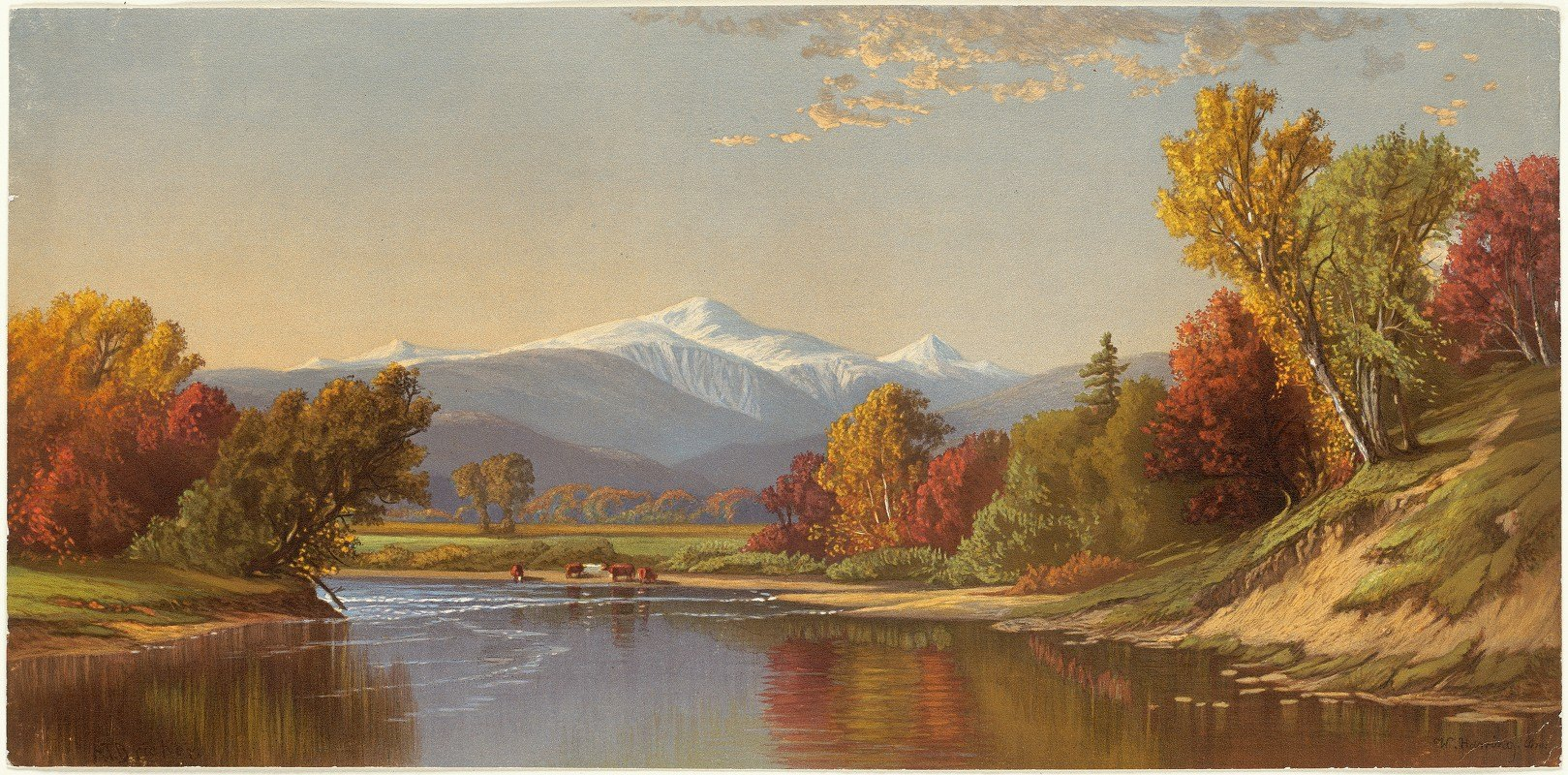 Alfred Thompson Bricher - Late Autumn in the White Mountains