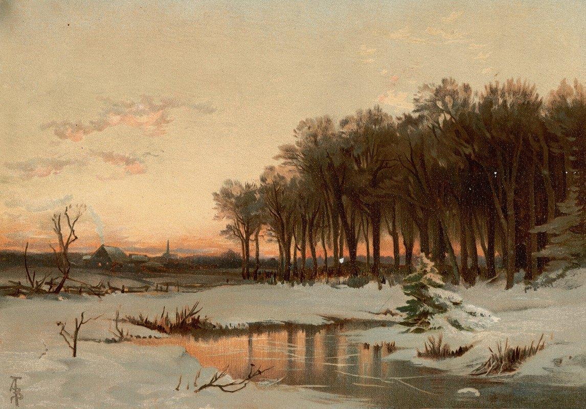 Alfred Thompson Bricher - Late Autumn, Saco River