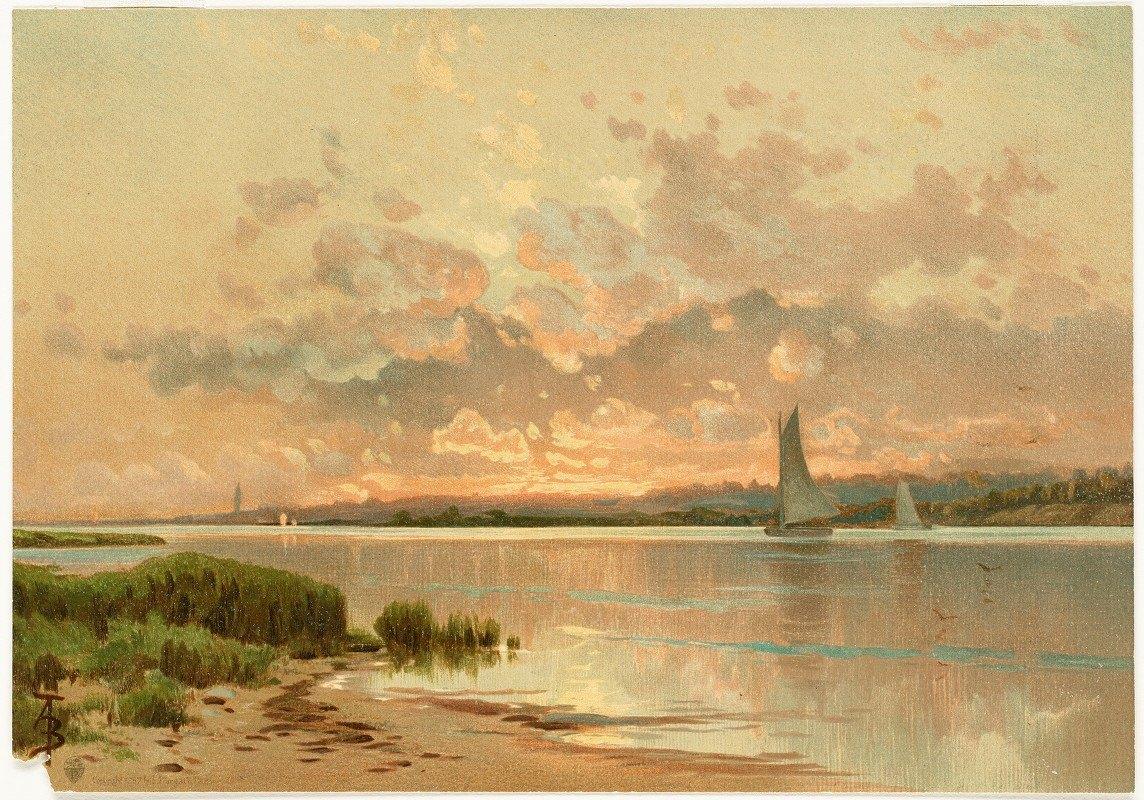 Alfred Thompson Bricher - Sunset, Shinnecock Bay