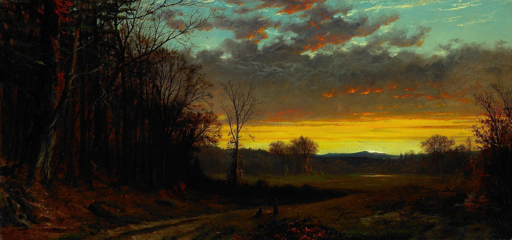 Alfred Thompson Bricher - Twilight in the Wilderness