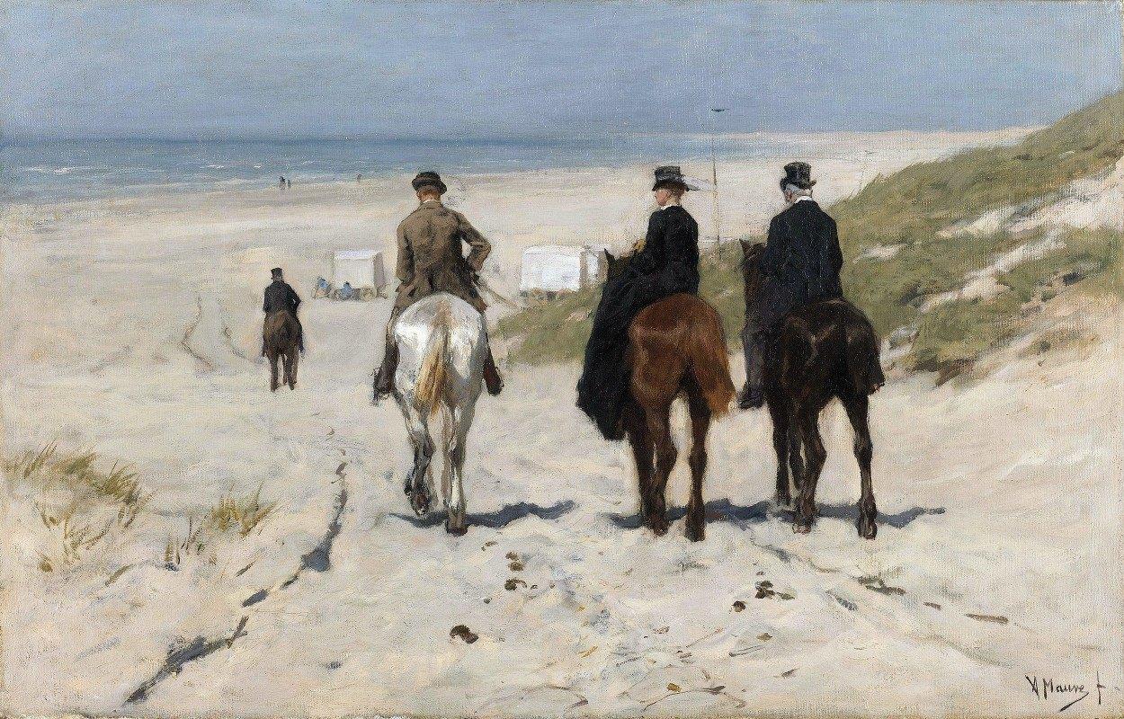 Anton Mauve - Morning Ride along the Beach