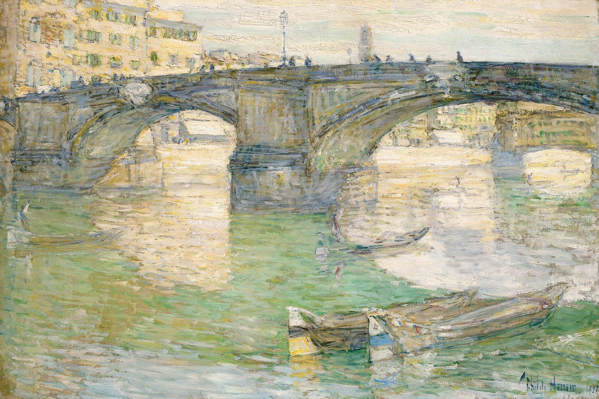 Childe Hassam - Ponte Santa Trinità