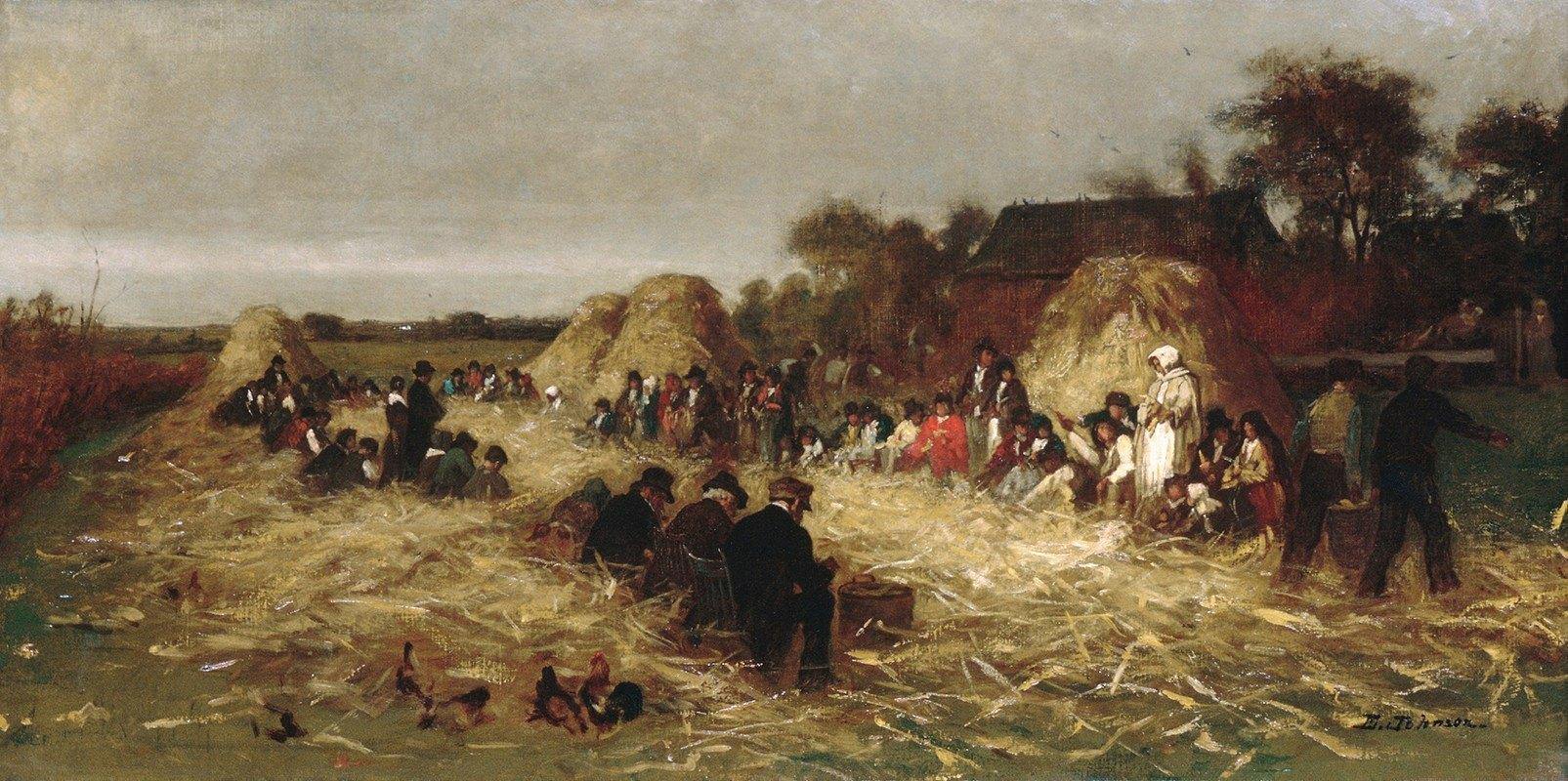 Eastman Johnson - Corn Husking at Nantucket
