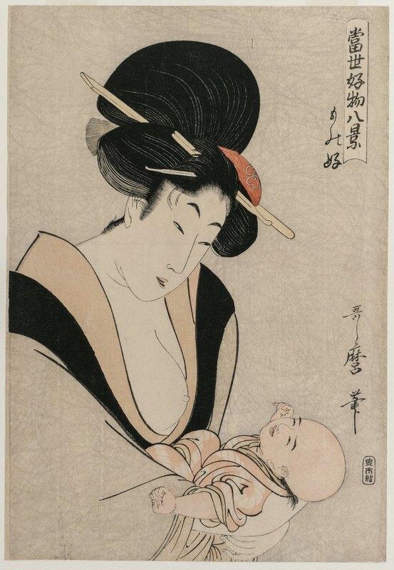 Kitagawa Utamaro - Fond of Things from the series Eight Views of Favorite Things of Today's World