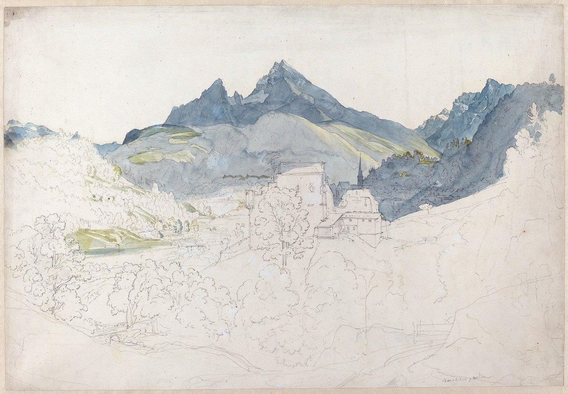 Ernst Fries - Berchtesgaden with the Watzmann Peak in the Distance