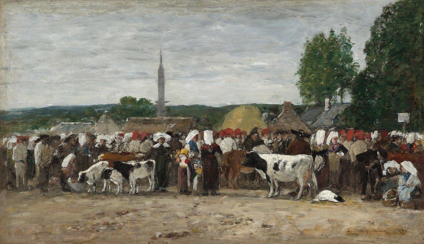 Eugène Boudin - Fair in Brittany