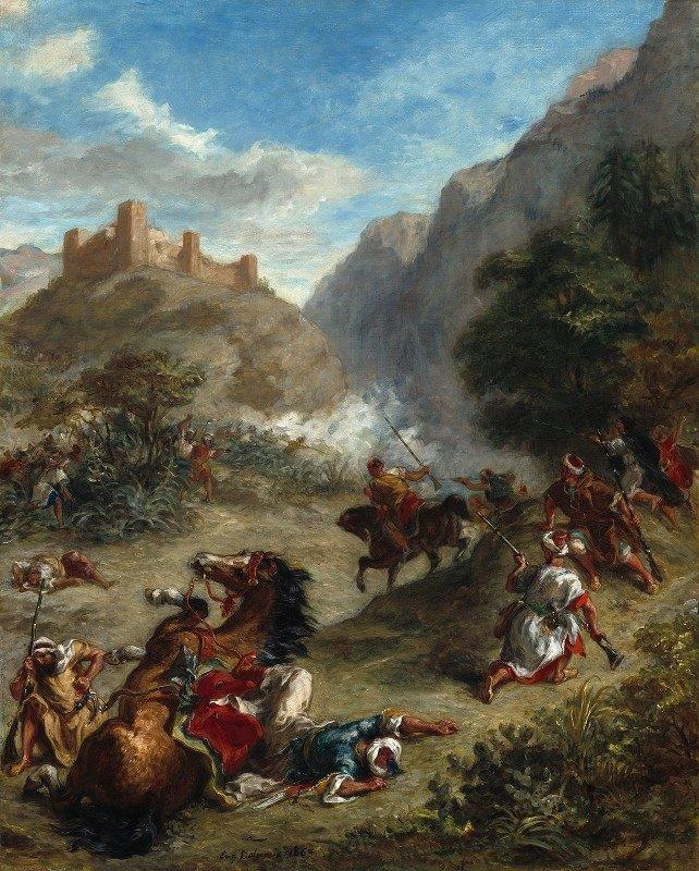 Eugène Delacroix - Arabs Skirmishing in the Mountains
