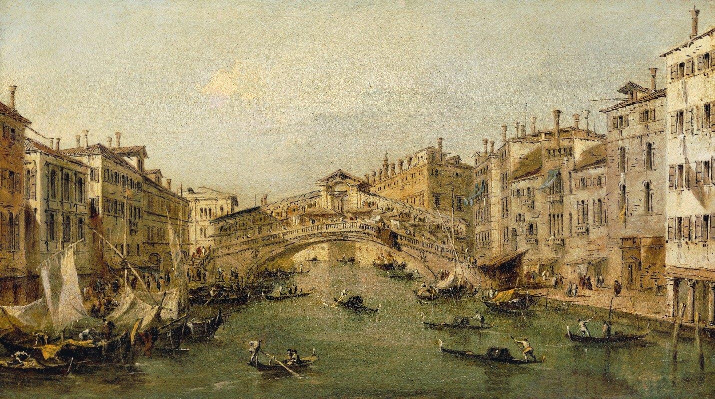 Francesco Guardi - Venice, The Rialto