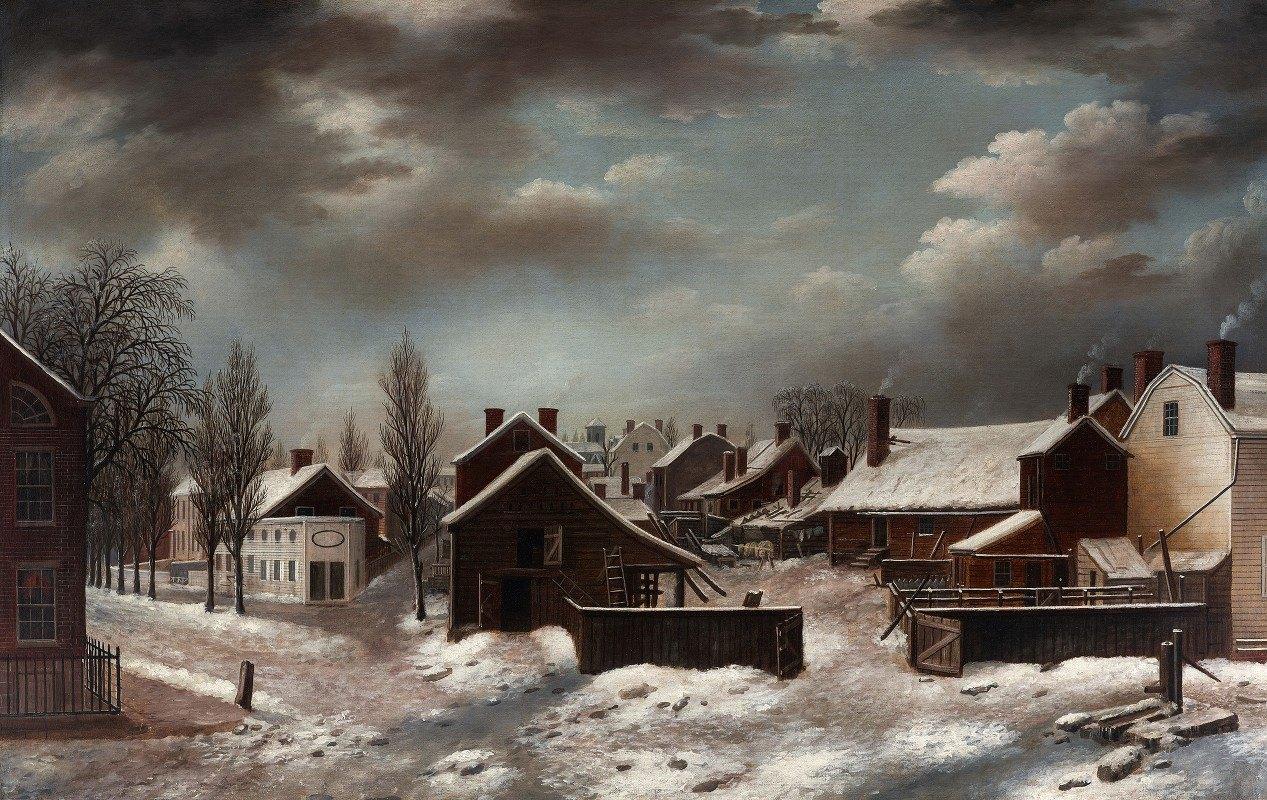 Francis Guy - Winter Scene in Brooklyn