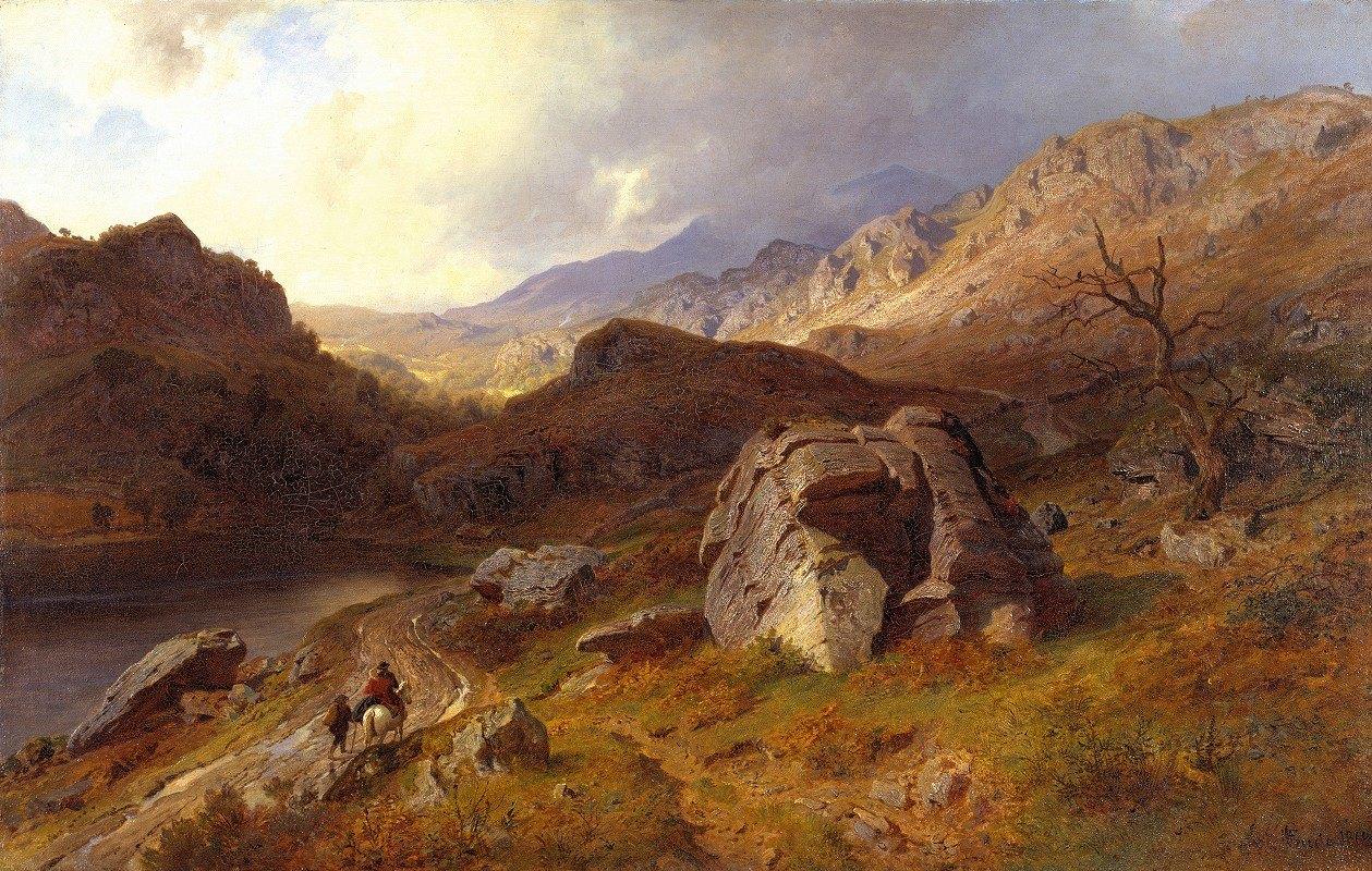 Hans Fredrik Gude - Lledr Valley in Wales