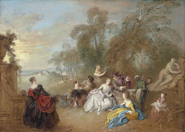 Jean-Baptiste Pater - On the Terrace