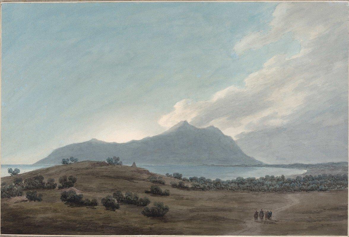 John Robert Cozens - Monte Circeo at Sunset