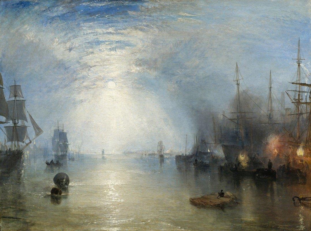 Joseph Mallord William Turner - Keelmen Heaving in Coals by Moonlight