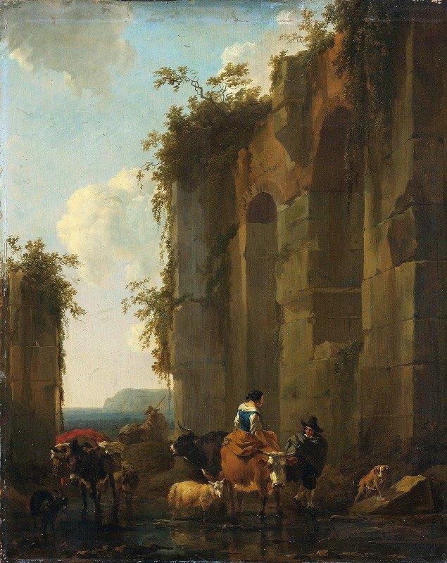 Nicolaes Pietersz. Berchem - Ruins in Italy