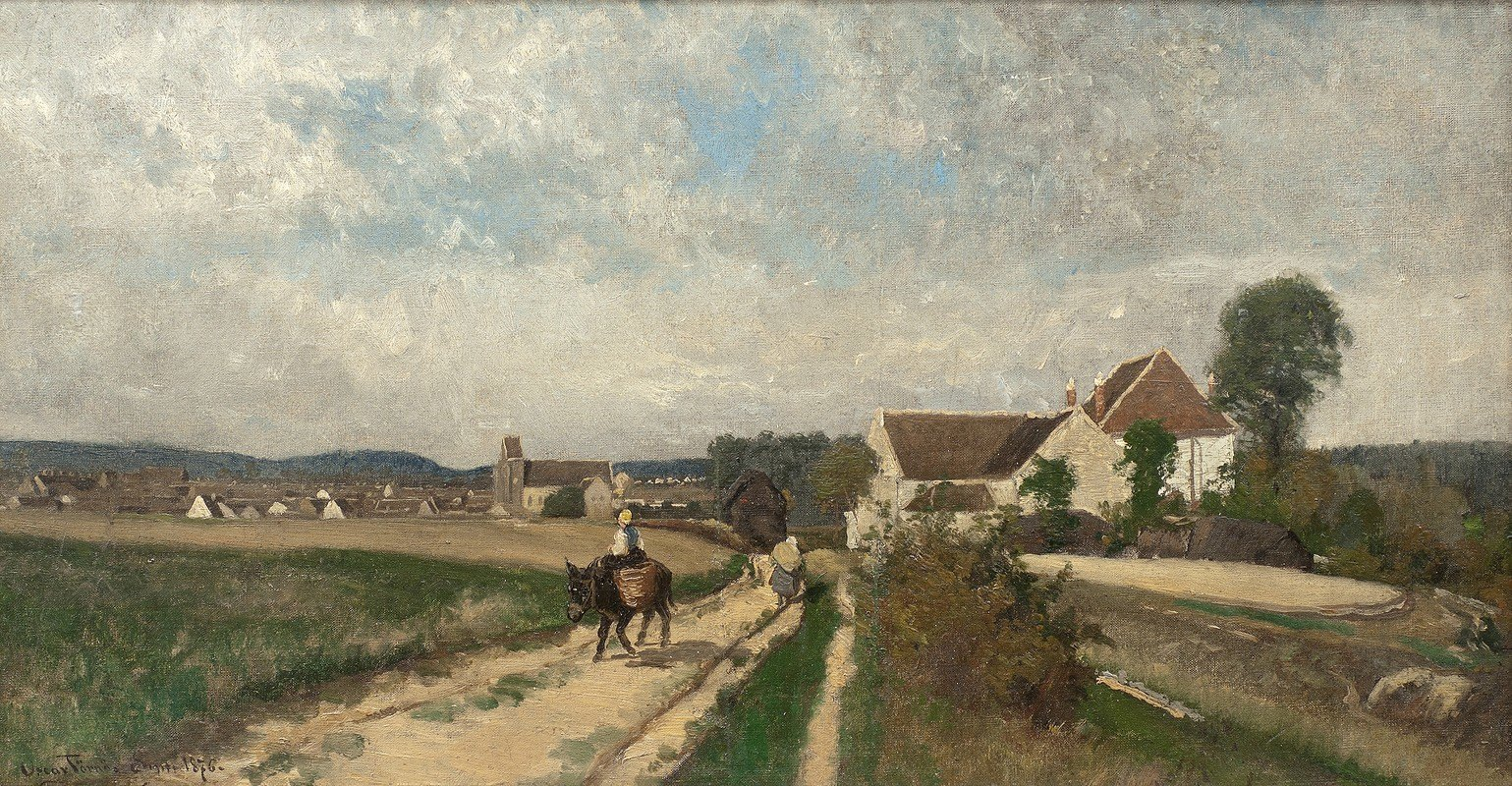 Oscar Törnå - Landscape near Grez-sur-Loing