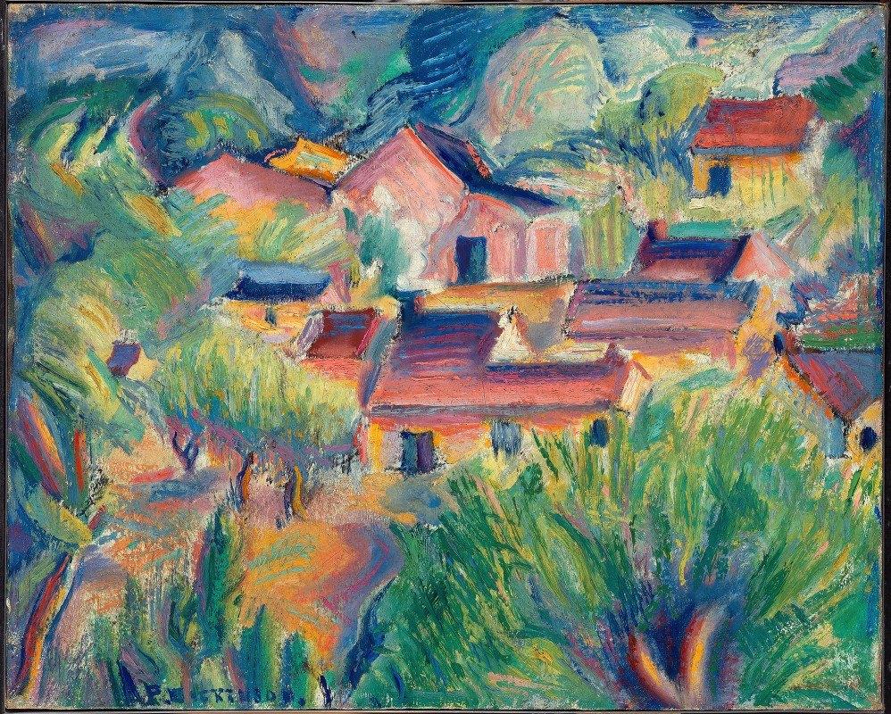 Preston Dickinson - Houses and Landscape