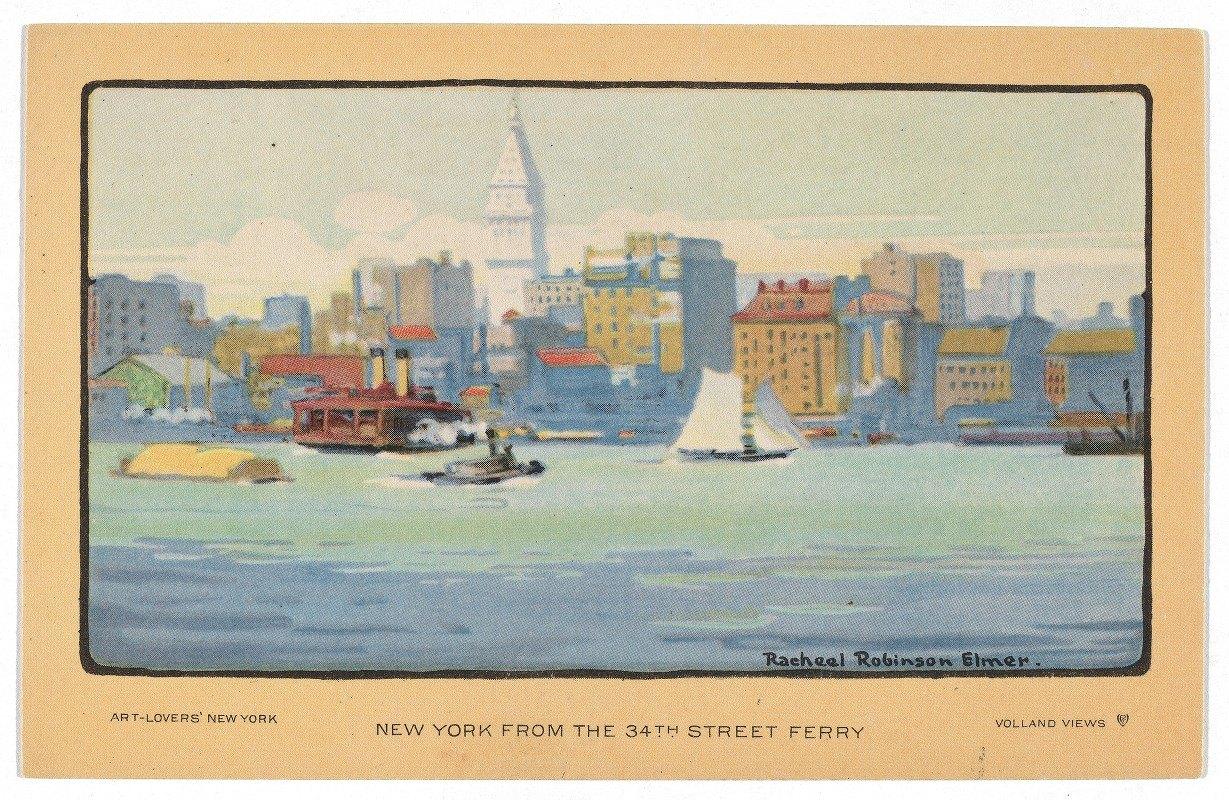 Rachael Robinson Elmer - New York from the 34th Street Ferry