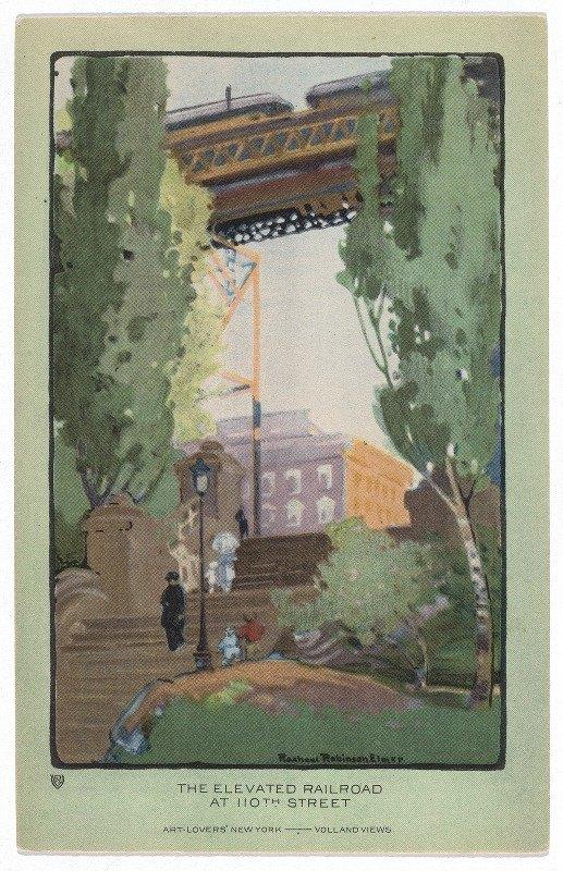 Rachael Robinson Elmer - The Elevated Railroad at 110th Street