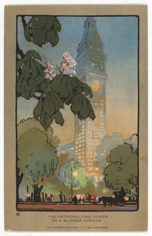 Rachael Robinson Elmer - The Metropolitan Tower on A Summer Evening