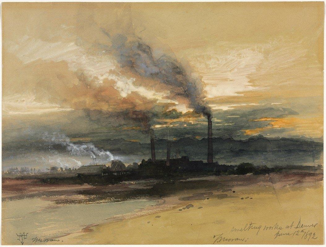Thomas Moran - Smelting Works at Denver