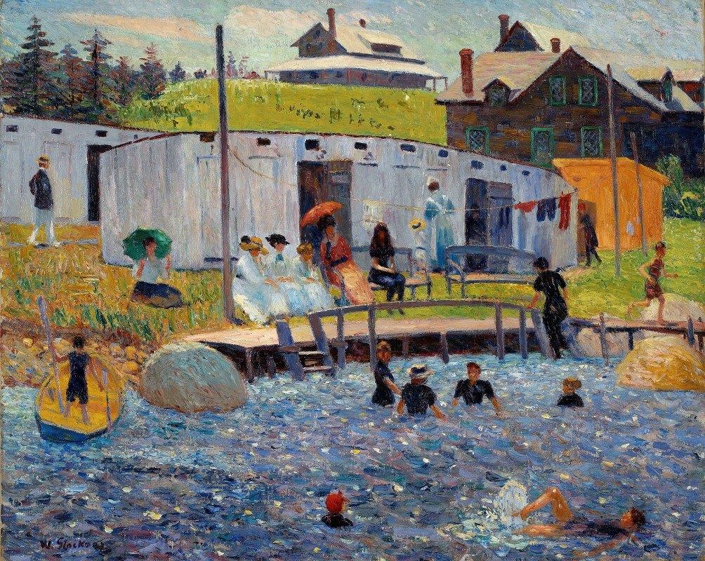 William James Glackens - The Bathing Hour, Chester, Nova Scotia