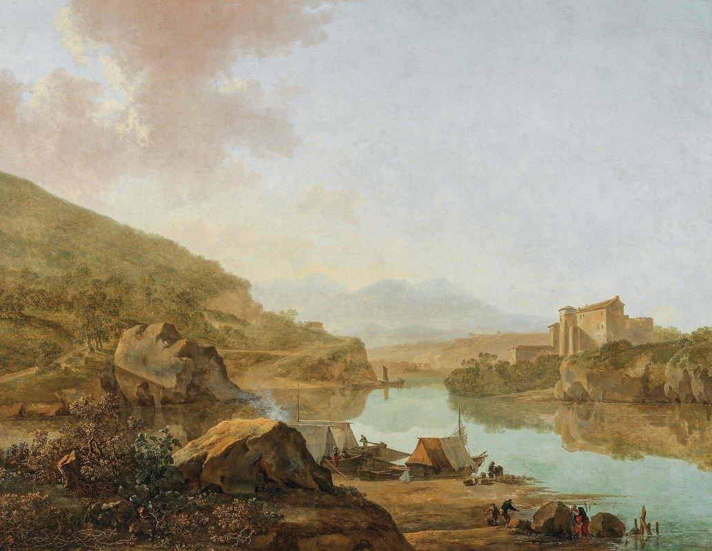 Adam Pynacker - An Extensive Italianate River Landscape