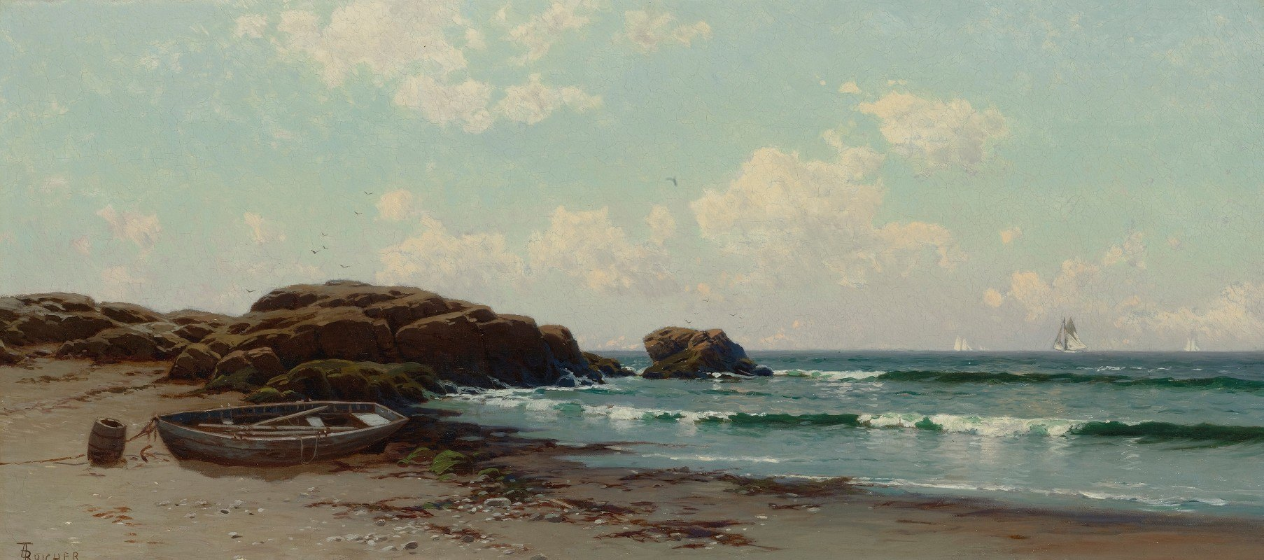Alfred Thompson Bricher - Afternoon By The Ocean