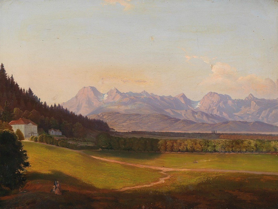 Anton Karinger - Radetzky Villa And The Kamnik Alps In Krain