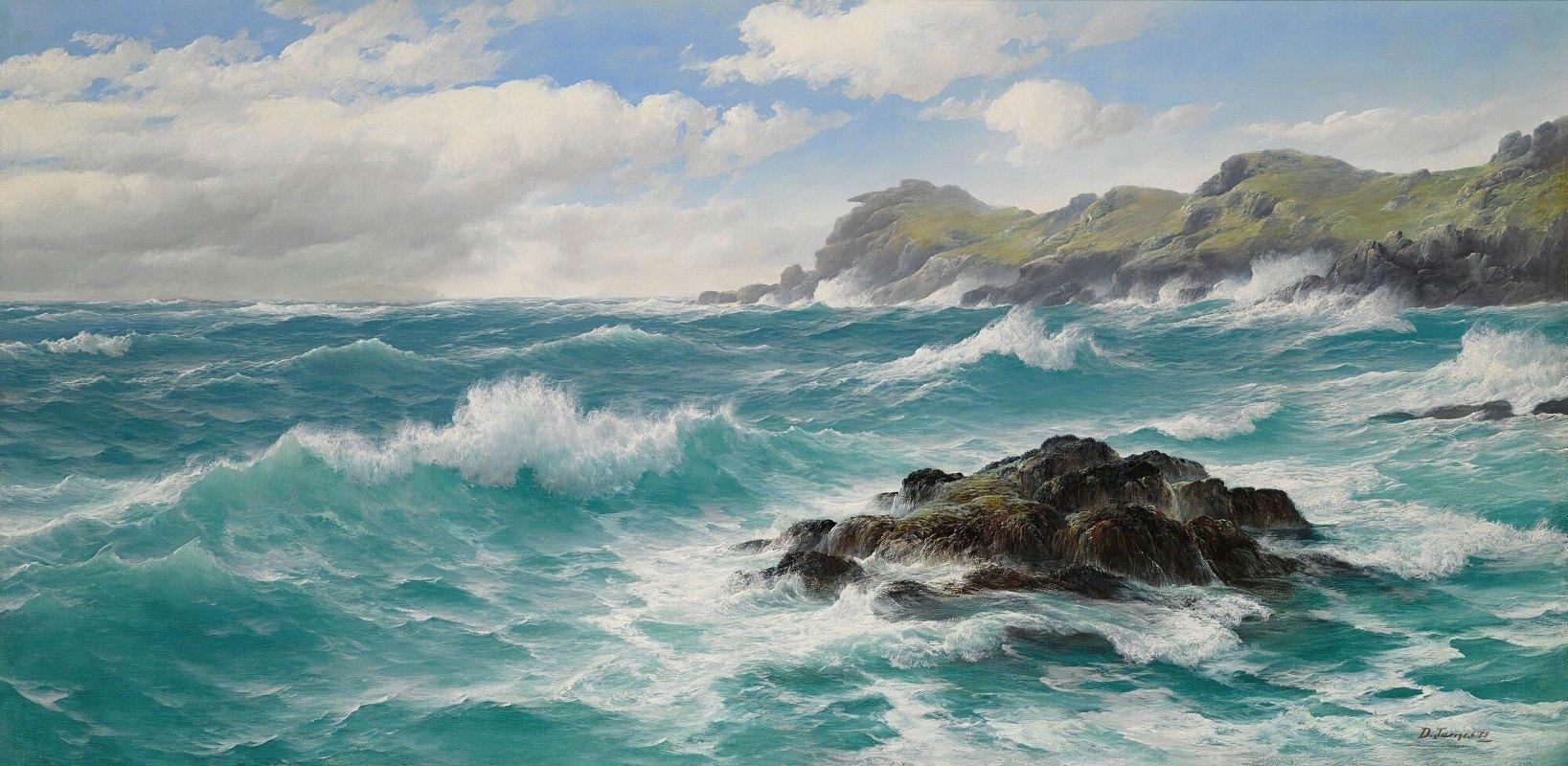 David James - Waves Off The Cornish Coast