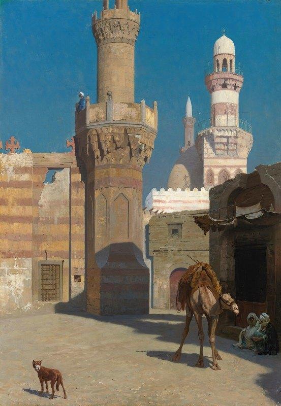 Jean-Léon Gérôme - Une Journée Chaude Au Caire (Devant La Mosquée)