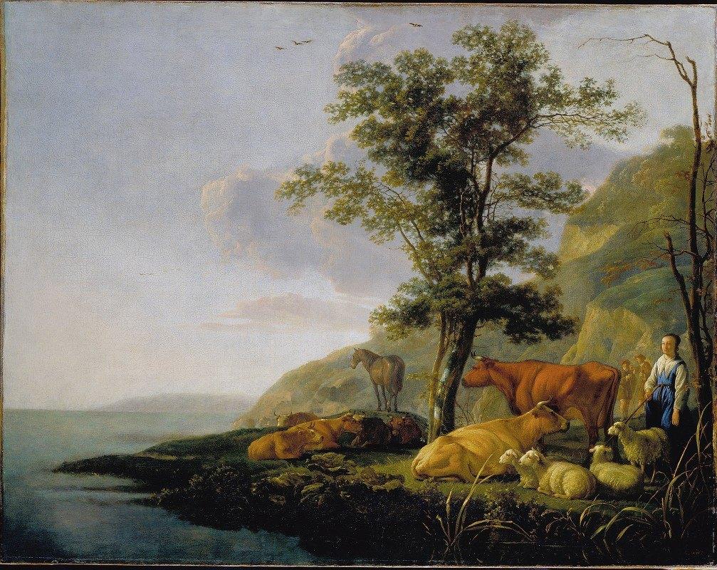 Aelbert Cuyp - Cattle near a River 2