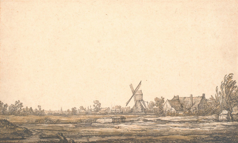 Aelbert Cuyp - Landskab med en mølle