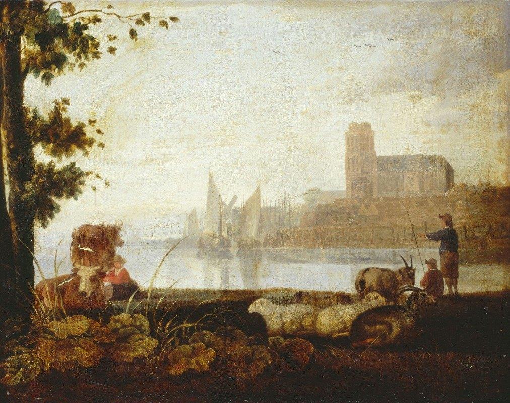 Aelbert Cuyp - View on the Maas