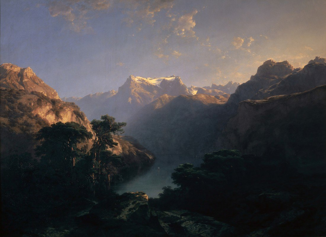 Alexandre Calame - By the Lake of Uri