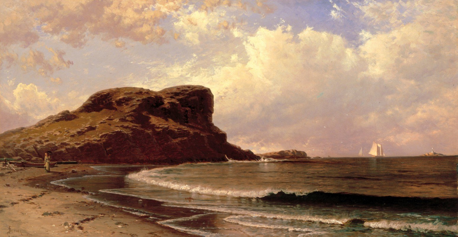 Alfred Thompson Bricher - Castle Rock, Nahant, Massachusetts
