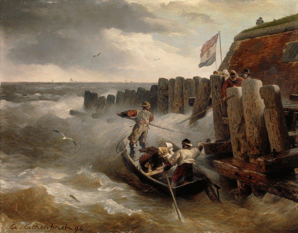 Andreas Achenbach - Seascape