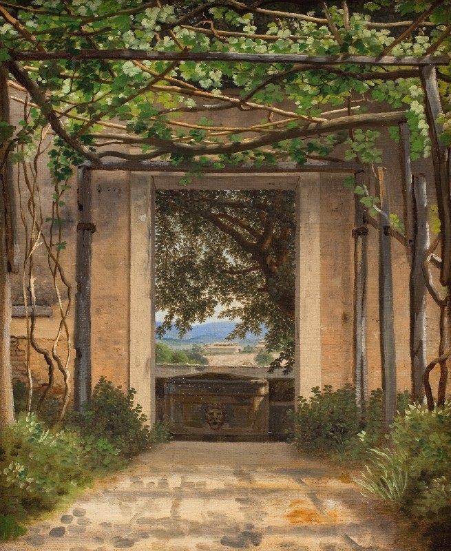 C.W. Eckersberg - A Pergola, Italy
