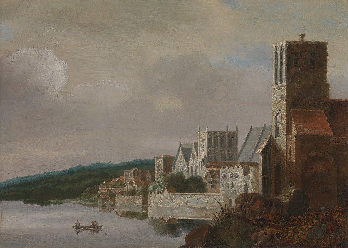Claude de Jongh - The Thames at Westminster