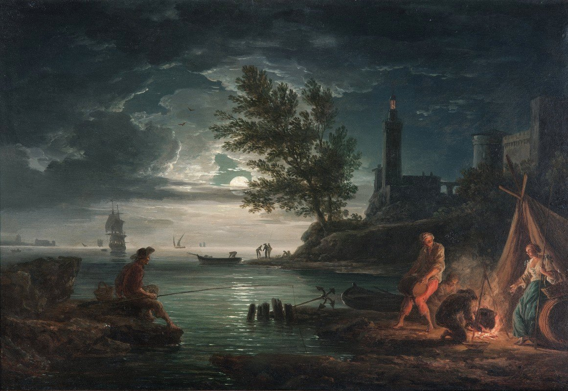 Claude-Joseph Vernet - The four times of day- Night