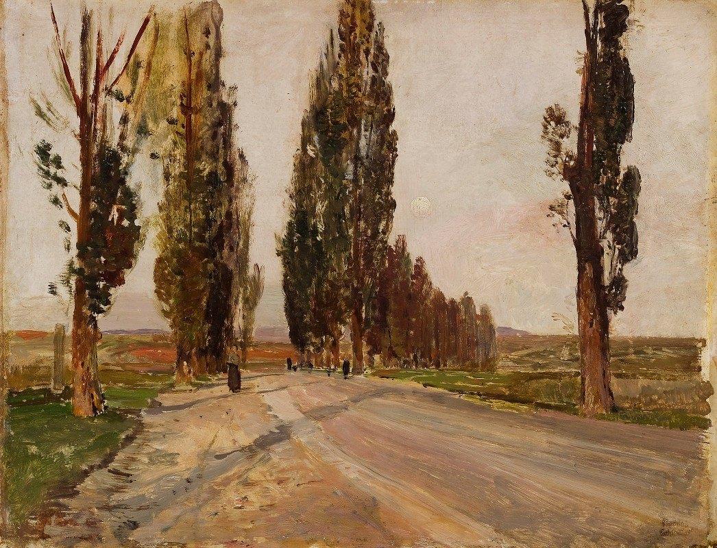 Emil Jakob Schindler - Boulevard of Poplars near Plankenberg