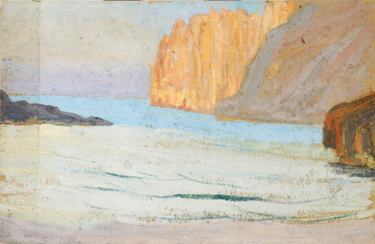 Ernst Schiess - Bay at the Sea with Rocks